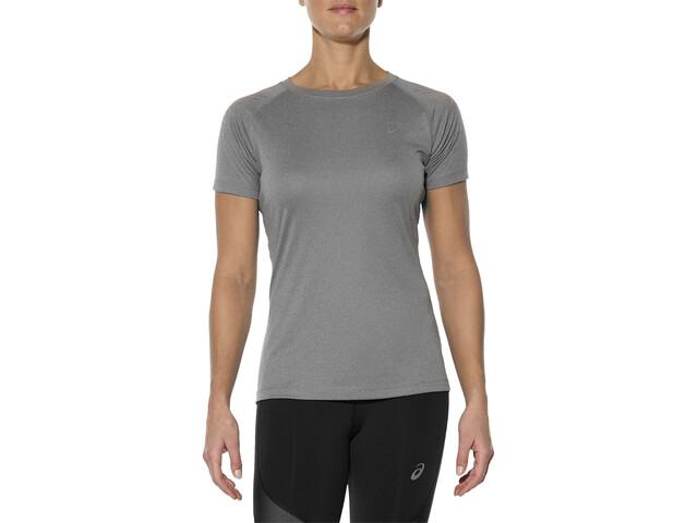 asics Stripe Løbe T-shirt Damer grå